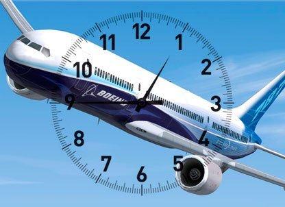viaje en avion tiempo