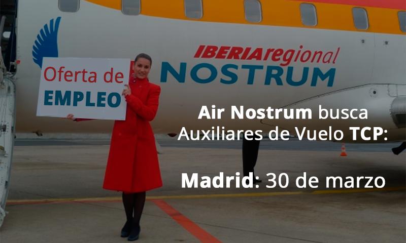 Oferta de empleo de air nostrum el 30 de marzo jornada de for Ofertas empleo madrid